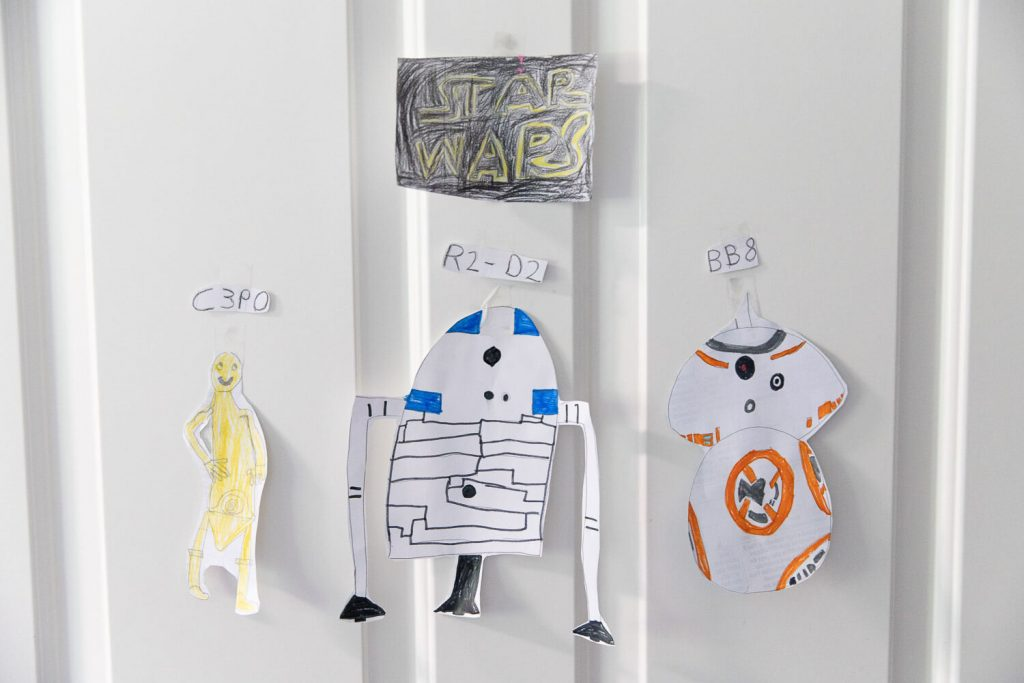 drawings of Star Wars characters